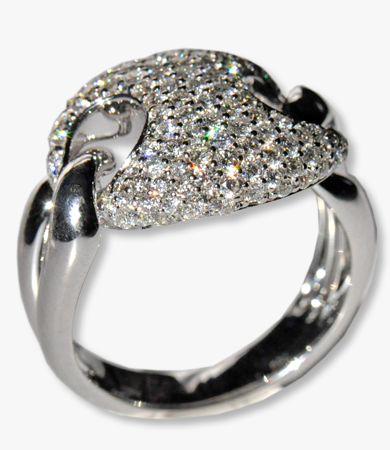 White gold and diamonds Artur Scholl ring | Statement Jewels